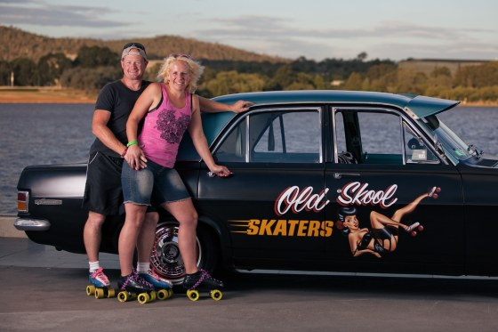 Two of the gang of three that skated from Canberra for Sydney for a kid with Cancer.