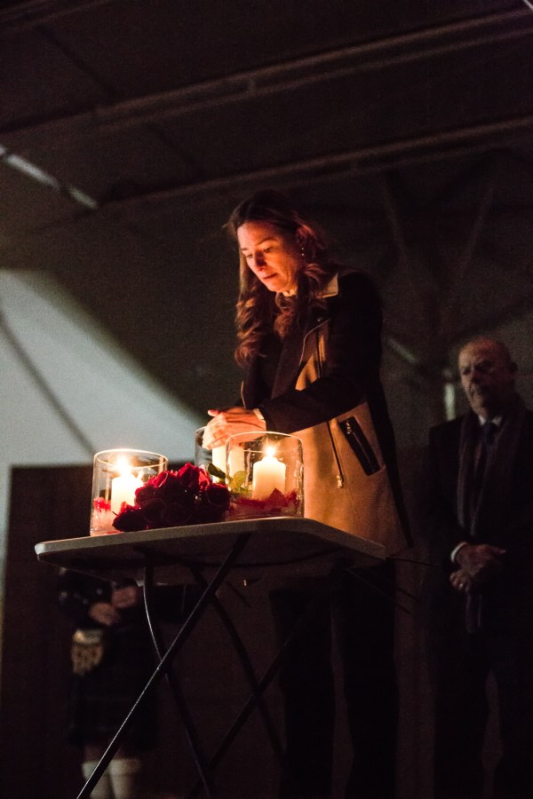 The lighting of the main candles by ACT Women's Minister Yvette Berry