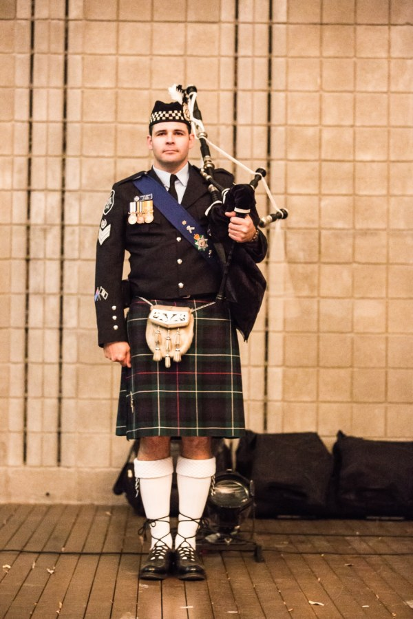 ACT police bagpiper