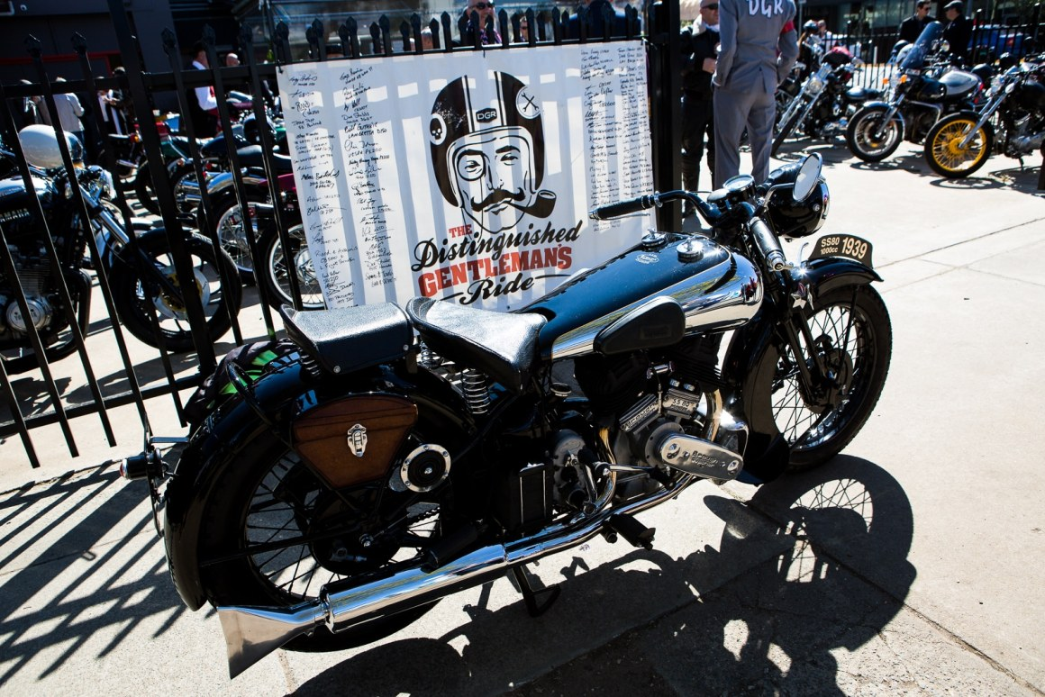 Canberra Australia - 27th of September 2015. The distinguished gentleman is ride sponsored by triumph was held on a sunny day here in Canberra. This is a charity ride, whether writers pay to participate with all funds going to prostate cancer research. It started off in Braddon ACT progressed to the National Arboretum and then on to mount Stromlo roo group photo was taken before the writers headed off to the Kingston hotel for Raffles and an afternoon drink.