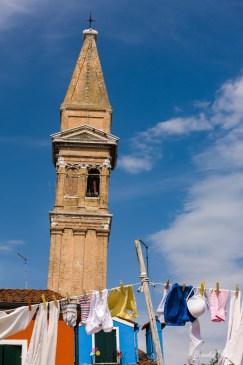 Laundry and Church Tower, Burano.