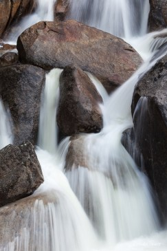 Rocks and Rushing water cascade.