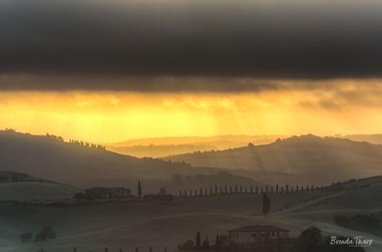 Moody light in Tuscany.