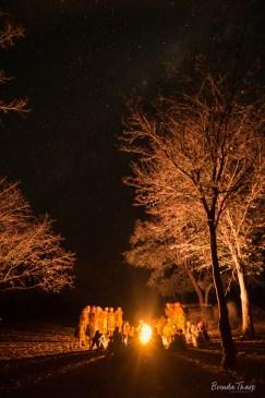 Night Scene, Bushmen village, Namibia.