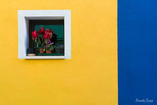 Colorful walls and window, Burano.