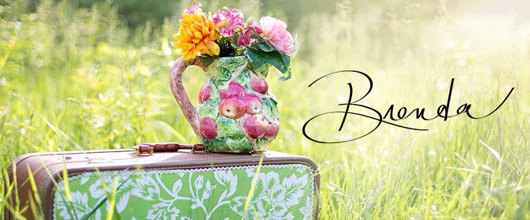 Brenda W. Powell, devotional, blog post, Encouragement for the Journey, flowers, flowr vase, suitcase, field, meadow