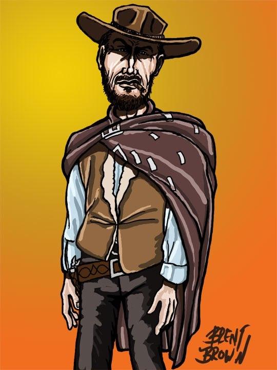 Clint Eastwood cartoon
