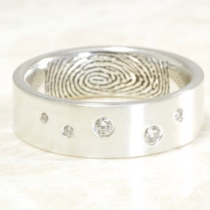 Custom Scattered Diamond Band by Brent&Jess