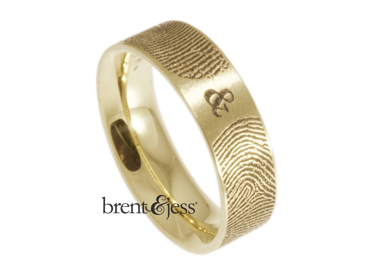10k yellow gold you and me ring narrow 6mm handmade by Brent&Jess