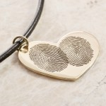 14k rose gold fingerprint necklace by Brent&Jess