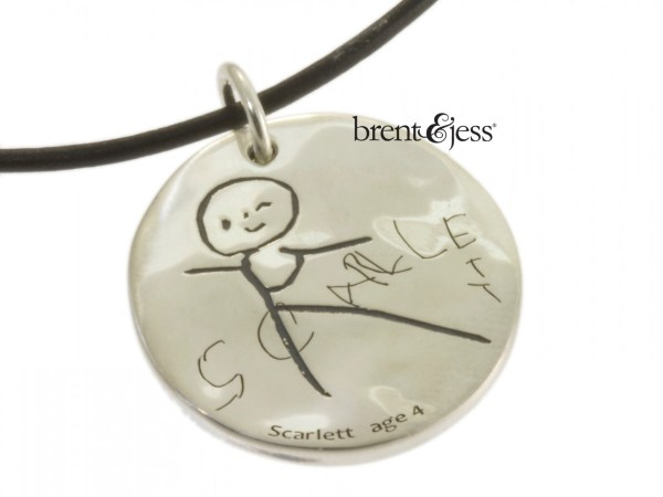 child's drawing necklace by Brent&Jess