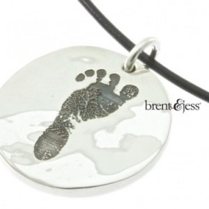 Handmade Baby's Footprint Keepsake Necklace
