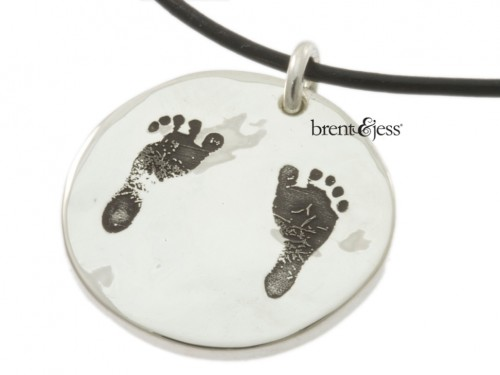 Your Baby's Footprints Custom Necklace