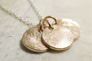 14k rose fingerprint charms
