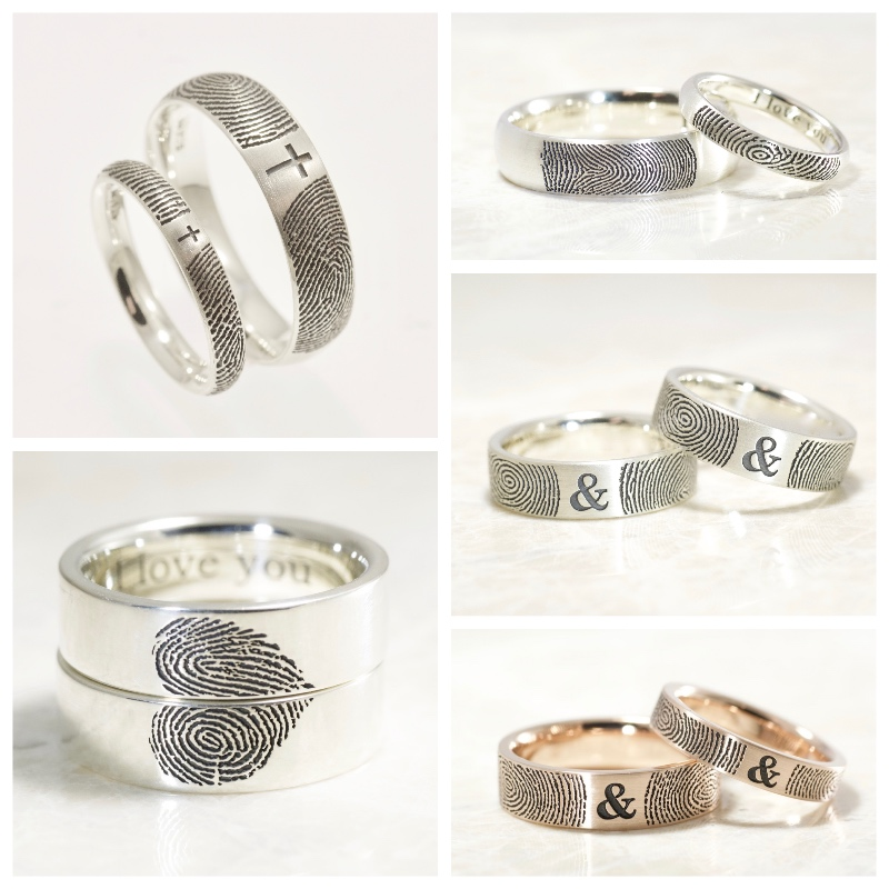 Custom Wedding Band Sets by Brent&Jess