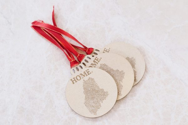 Fingerprint State Christmas ornament