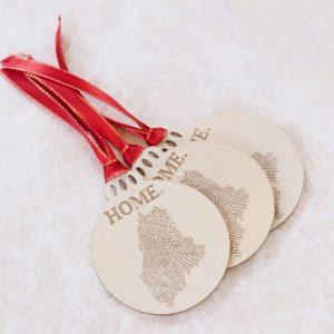 Fingerprint State Christmas ornament