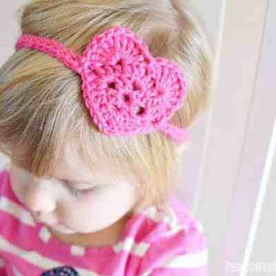 Kid's Crochet Heart Headwrap
