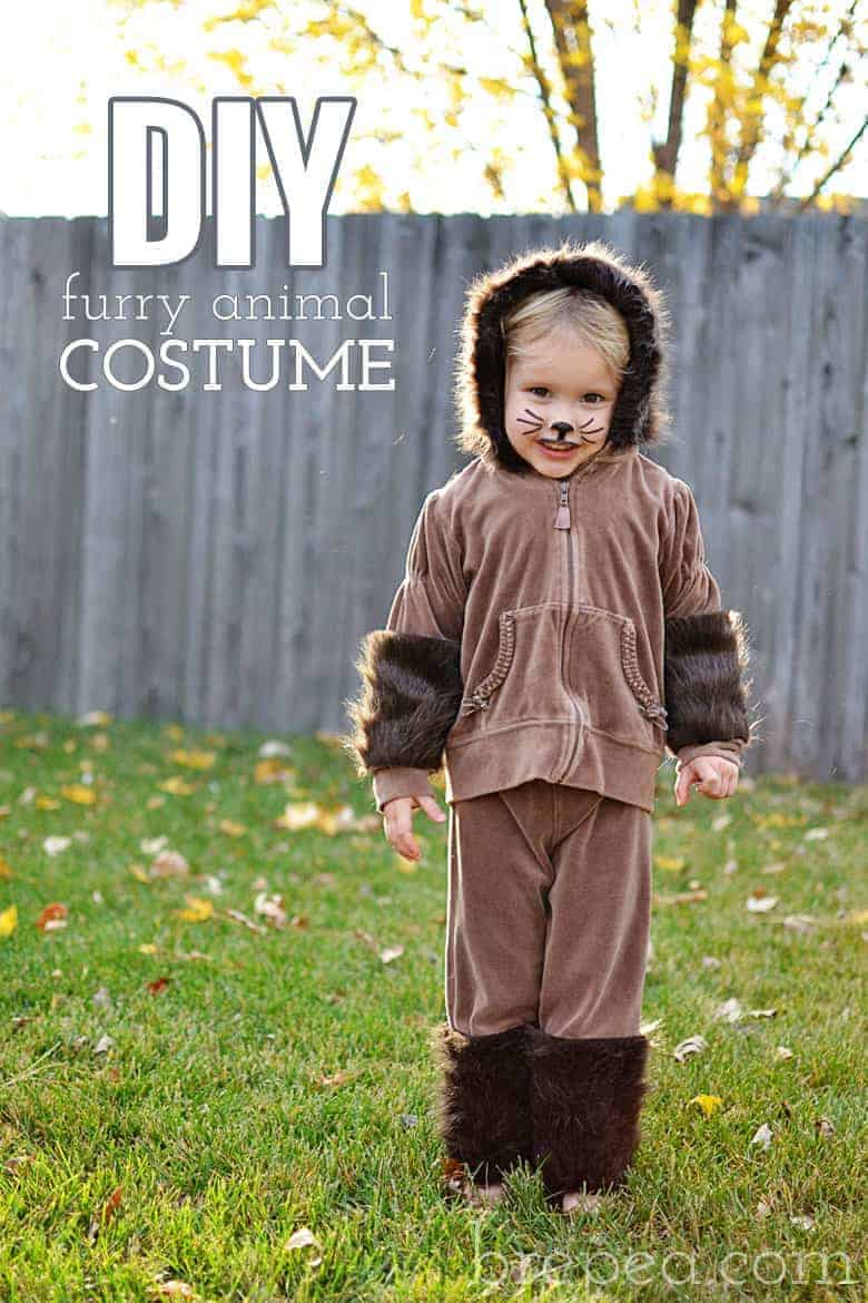 DIY furry animal halloween costume