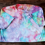 Pop Art Ice Tie Dye Technique T-Shirt Throw Pillow
