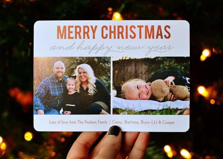 Take your own family Christmas card photos