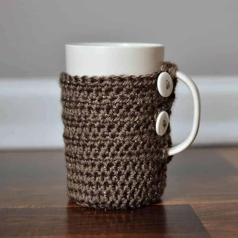 Simple Crochet Tall Coffee Mug Cozy Bre Pea