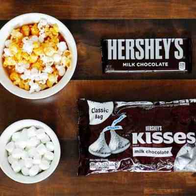 Sweet & Salty Cheddar Popcorn HERSHEY'S Chocolate Bark
