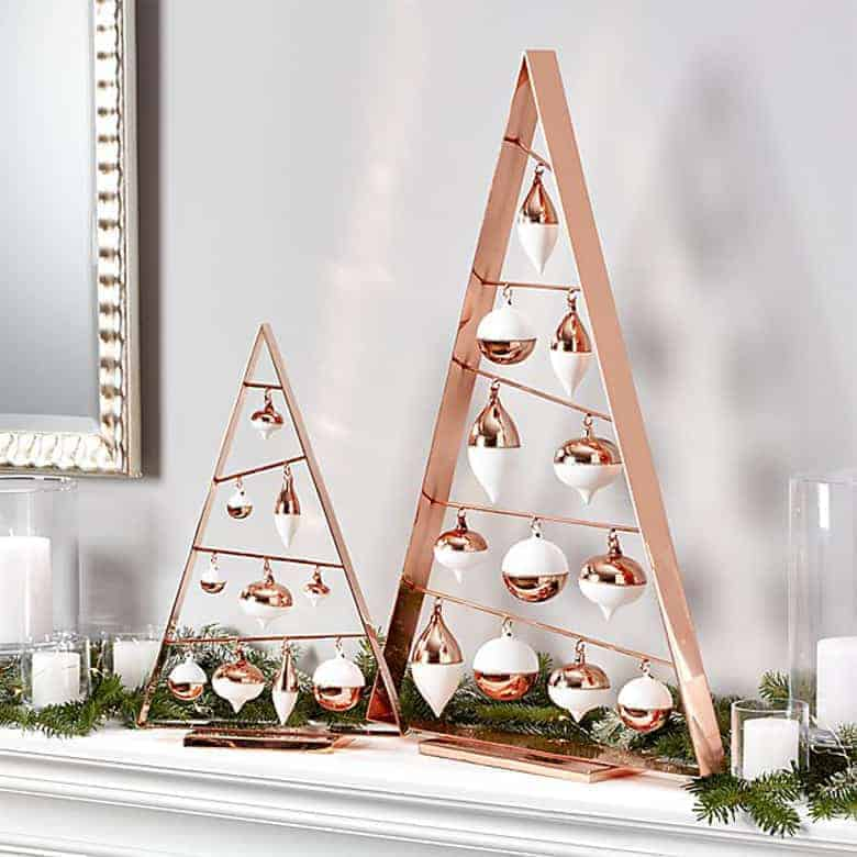 A-Frame Copper Ornament Trees