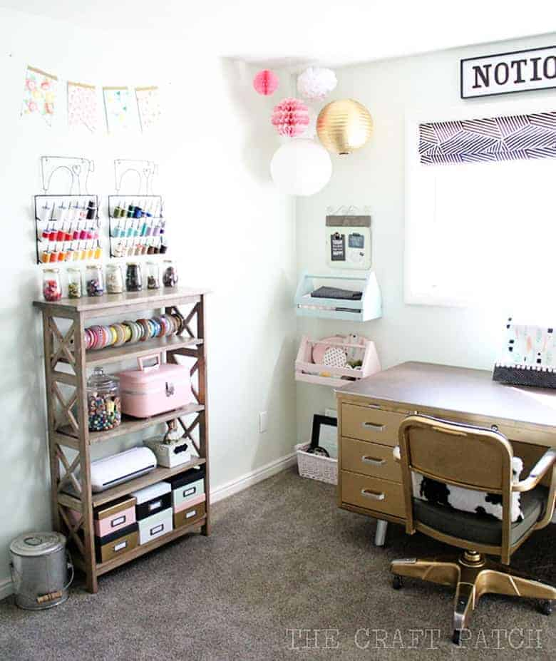 home office craft room. Lust-Worthy Blog Home Office Decor Inspiration Craft Room