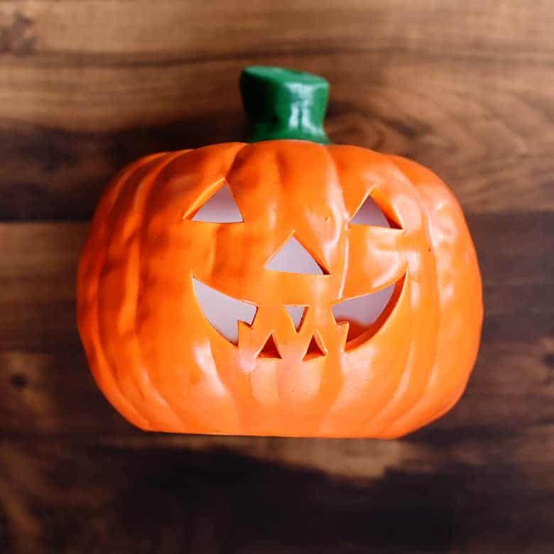 Thrift Store Halloween Decor: Ceramic Pumpkin Makeover | Bre Pea