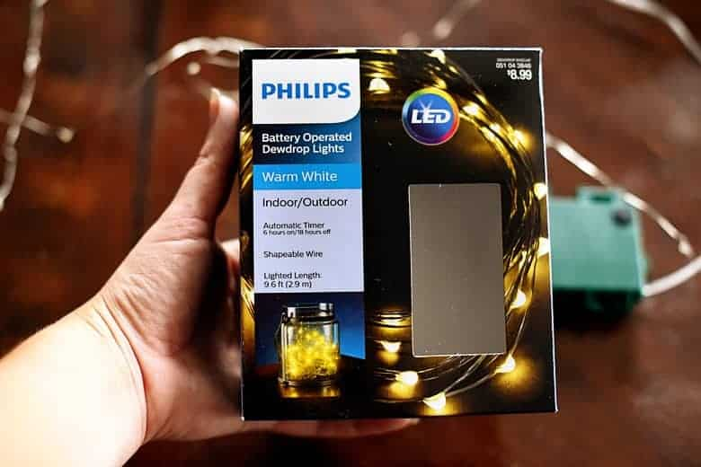 i had bought a few boxes of these fairy lights during the super duper 70 off christmas clearance sale at target last winter