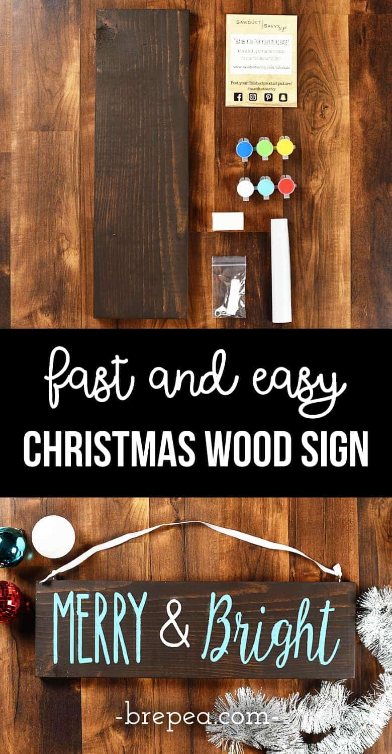 There might be a lot of Christmas wood signs DIY tutorials out there, but there are none as fast and easy as this one! This tutorial for how to make your own rustic wood sign decor for the holidays is perfect for front porches and any wall art.