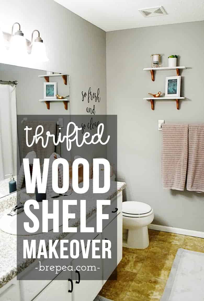 Take a common thrift store find and give it new life! This thrift store shelf makeover is an easy DIY project and fits in any room of the house.