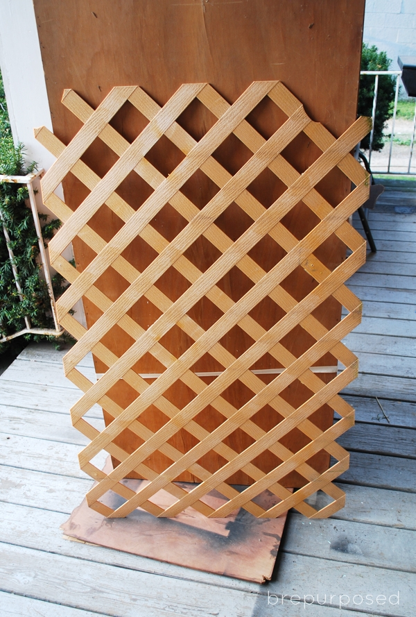 DIY Lattice Craft Organizer