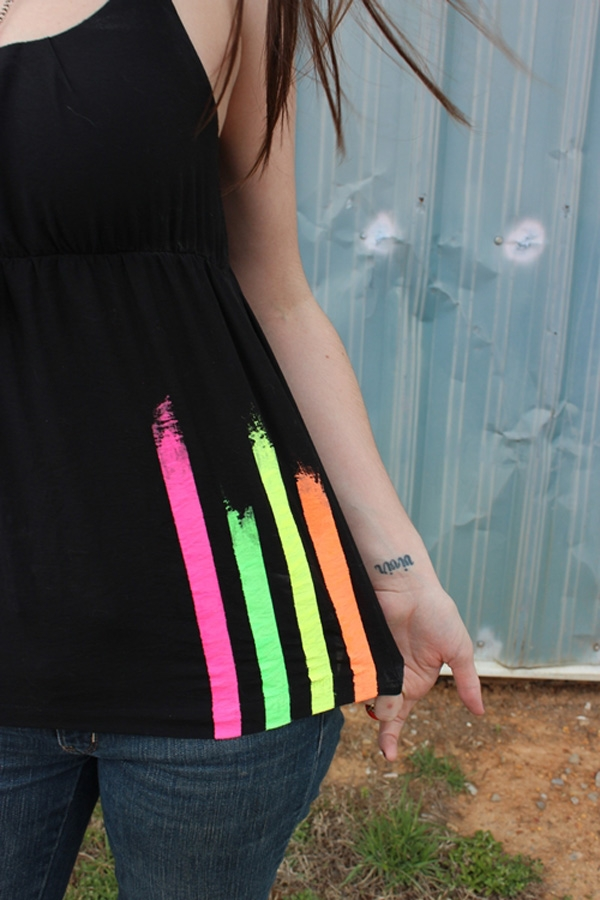 Paint Striped Neon Shirt