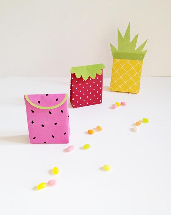 DIY Fruit Gift Bags
