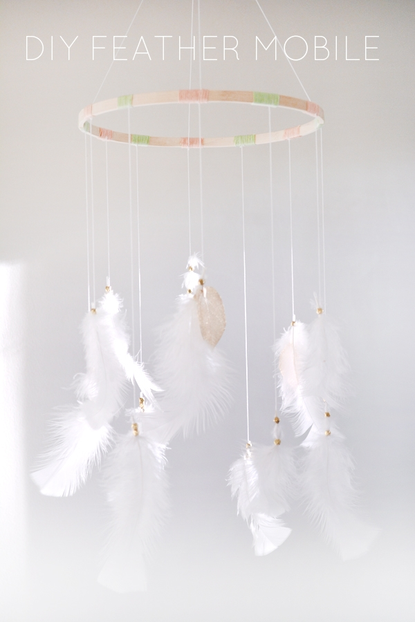Fresh DIY Feather Mobile