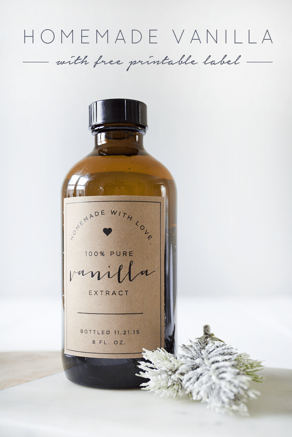 Homemade Vanilla with Free Printable Label