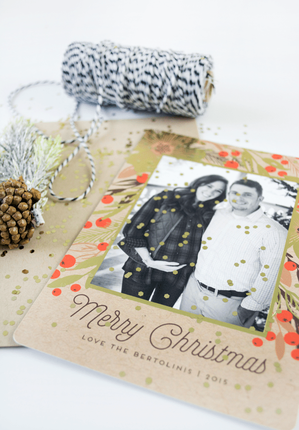 Gold Foil Christmas Cards from Minted