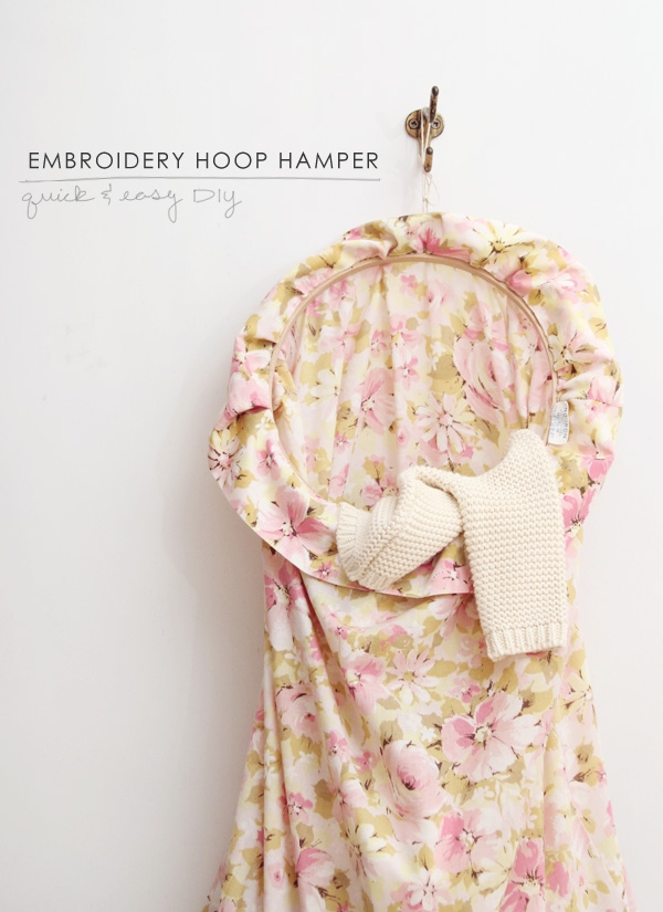 Embroidery Hoop Hamper