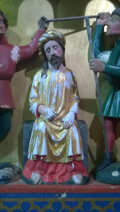 Kirch Stück, Detail der Altarfiguren nach Ausbesserung von Fehlstellen