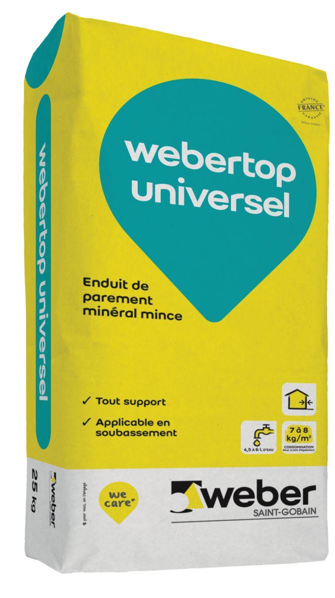 Enduit De Parement Webertop Universel Ton Pierre 016 Sac De 25 Kg Weber