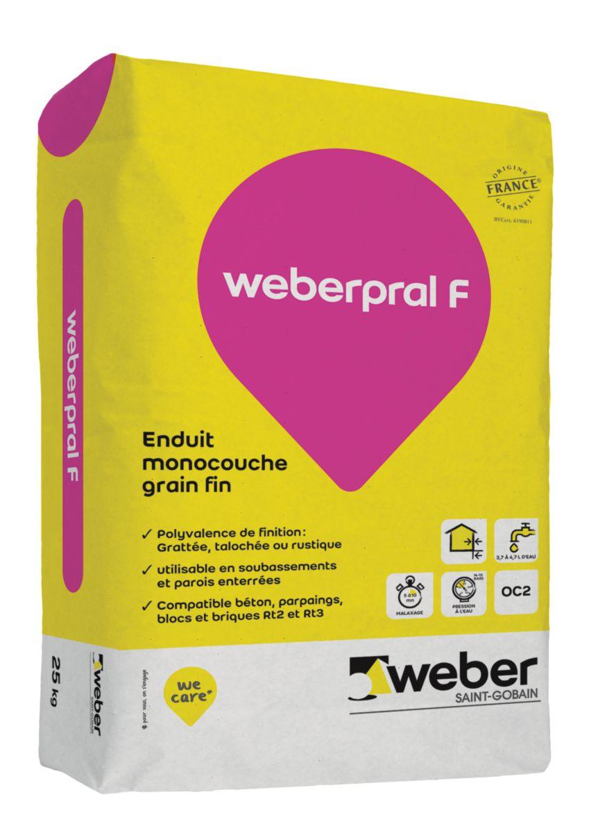 Enduit D Impermeabilisation Et Decoration Pour Facade Neuve Weber Pral F Ton Pierre 016 Sac De 25 Kg Weber