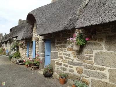 Bretonische Chaumiere-Ansicht