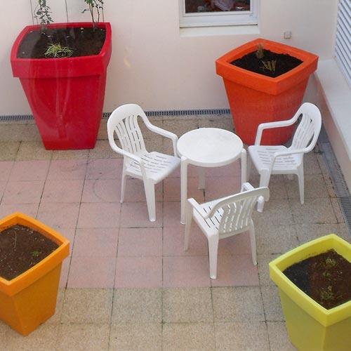 jardin eclairage poterie paysagiste