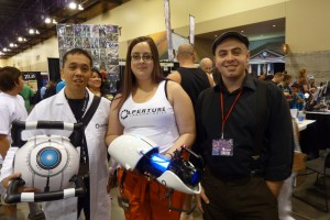 Chell, Wheatley and Aperture scientist