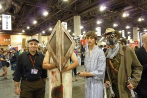 Pyramid Head, samurai, steampunk warrior cosplay