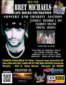 Life Rocks Charity Foundation Concert Flyer