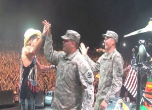 Bret Michaels salutes the Military