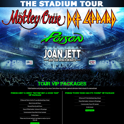 Poison VIP Packages